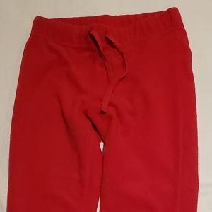 Red Fleece Leggings